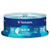Verbatim BD-R 25GB 6X Blu-ray Recordable Media Disc - 25 Pack Spindle