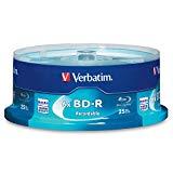 Verbatim BD-R 25GB 6X Blu-ray Recordable Media Disc - 25 Pack Spindle