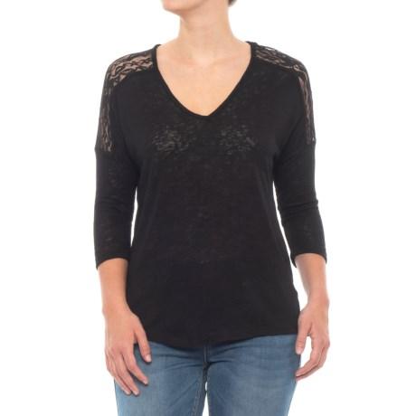 Lottie Lace Trim Shirt - 3/4 Sleeve (for Women)