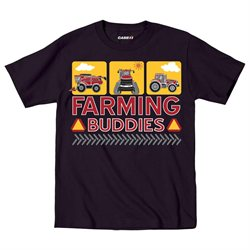 Farming Buddies Tractors Case IH - Toddler T-Shirt - Black - 4T