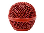 Seismic Audio - Sa-m30grille-red - Replacement Red Steel Mesh Microphone Grill Head - Compatible With Sa-m30, Shure Sm58, Shure Sv100 And Similar