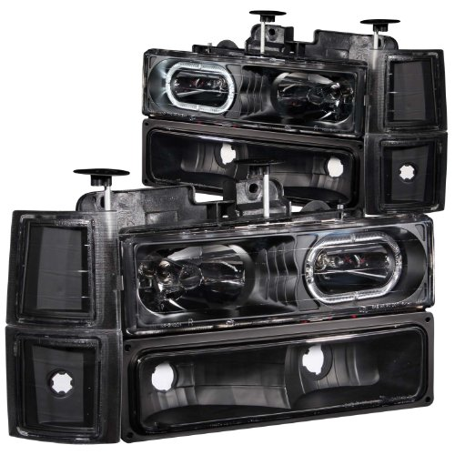Anzo USA 111102 Chevrolet Black Projectors with Halos Headlight Assembly - (Sold in Pairs)