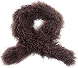 Snugrugs Ladies Luxury Mongolian Sheepskin Scarf / Boa (Dark Brown)