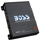 BOSS Audio R1100M Car Amplifier – 1100 Watts Max Power, 2/4 Ohm Stable, Class A/B, Monoblock, MOSFET Power Supply, Remote Subwoofer Control