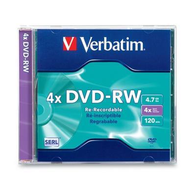 Verbatim 94836 Dvd-rw - 4.7 Gb (120min) 2x - 4x - Jewel Case