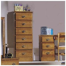 Carolina Oak Collection 6-Drawer Lingerie Chest