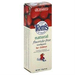 Toms of Maine Fluoride-Free, Children, Silly Strawberry, 4 oz