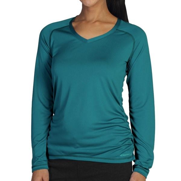 ExOfficio Micria Shirt - UPF 15 , V-Neck, Long Sleeve (For Women)