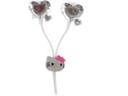 Sakar Hello Kitty Heart Bling Earbud Hk-12309-sil-wal