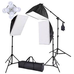 Large Soft Box Boom Lighting Kit with 8 x 45w Bulbs & 1x 105w Bulb