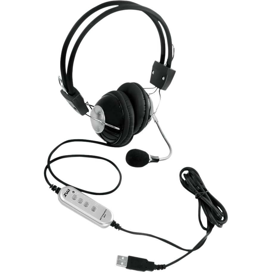 Pyle PHPMCU10 Multimedia-Gaming USB Headset with Noise-Canceling Microphone