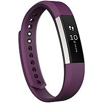 Fitbit Alta Smart Band - Wrist - Accelerometer - Calendar, Silent Alarm, Text Messaging - Sleep Quality, Calories Burned, Steps Taken, Distance Traveled - Bluetooth - Bluetooth 4.0 - 120 Hour - Plum - Elastomer Clasp, Stainless Steel - Health & Fitness, C Fb406pml