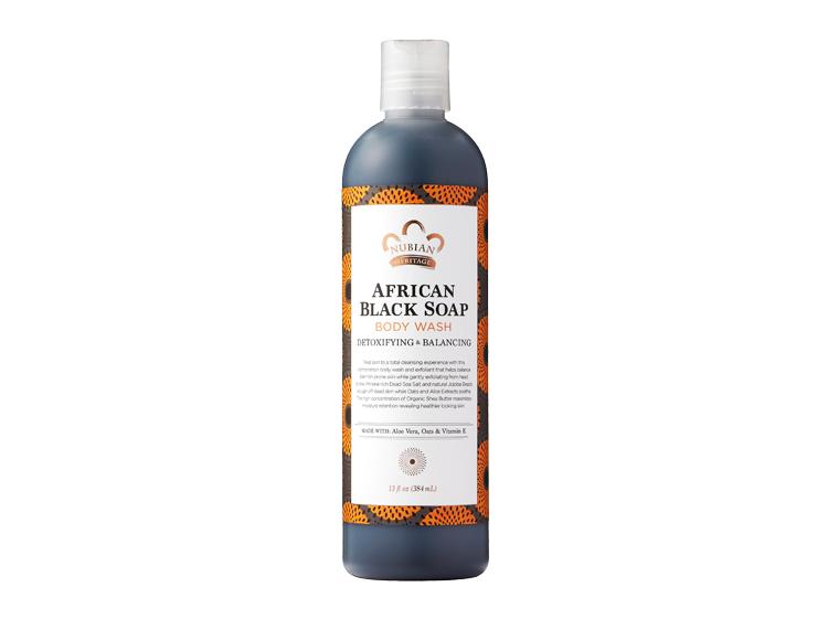 African Black Soap Body Wash Nubian Heritage 13 oz Liquid