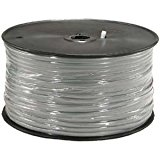 InstallerParts 1000 Ft 6 Conductor Silver Satin Modular Cable Reel 28AWG