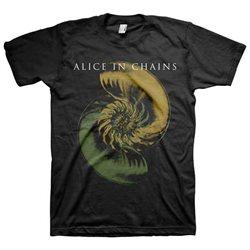 Alice In Chains Shellshock Men's Black T-Shirt-large