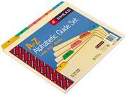 Smead 50180 Recycled Top Tab File Guides, Alpha, 1/5 Tab, Manila/poly, Letter, 25/set