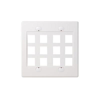 Belkin F4e469-12-wht Faceplate - White - 2-gang - 12 Ports