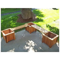 #11 Three Cedar Planters - Two Bench Set