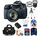 Canon EOS 70D DSLR Camera with 18-135mm STM f/3.5-5.6 Lens   High Speed 128 GB Memory Card   Camera Flash   Camera Bag   Lens Filters   Tripod and more...