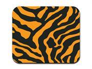 Zebra Print - Orange and Black Mousepad Mouse Pad