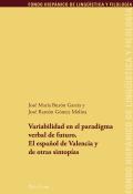 Este libro ofrece un análisis variacionista de la expresión verbal de lo futuro en el español de la comunidad de habla bilingüe castellano-catalán de Valencia