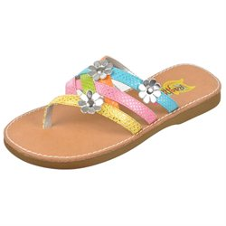 Rachel Girls Paradise Flip-Flops (Youth Sizes 12 - 4)