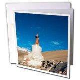 Danita Delimont - Ellen Clark - Religion - India, Jammu and Kashmir, Ladakh, chortens with red spires. - 6 Greeting Cards with envelopes (gc_188100_1)