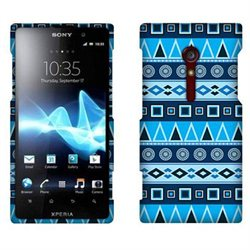 Sony Xperia ion LT28i LT28at Hard Case Cover - Blue Aztec