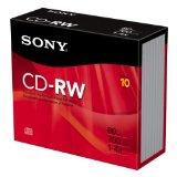 Sony 10CDRW700R//T 4X CD-RW Slim Jewel Case (10-Pack)