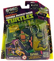 The SWAPPZ 628430123153 Teenage Mutant Ninja Turtles Raphael Figure Keychain Nickelodeon the free mobile game is down loadable to your iOS or Android device and lets you play using the Swappz collectible characters and coin system that lets you purchase power ups, upgrades or unique characteristics for each character