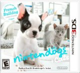 Nintendogs   Cats: French Bulldog & New Friends CASE& INSERTS!! NO GAME INCLUDED