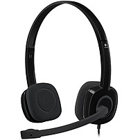 Logitech Stereo Headset H151 - Stereo - Black - Mini-phone - Wired - 22 Ohm - 20 Hz - 20 Khz - Over-the-head - Binaural - Supra-aural - 5.91 Ft Cable - Noise Canceling 981-000587