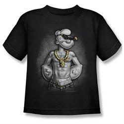 Boys POPEYE HARDCORE Short Sleeve T-Shirt Size Large