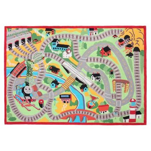 Thomas the Train Tracks Jumbo Kids Rug - Size: 30 x 48