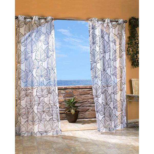 Outdoor Decor Biscayne Sheer Indoor/Outdoor Curtains - 108x96?, Grommet Top