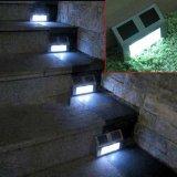 Outdoor Solar 2 LED White Stairways Landscape Garden Path Wall Light