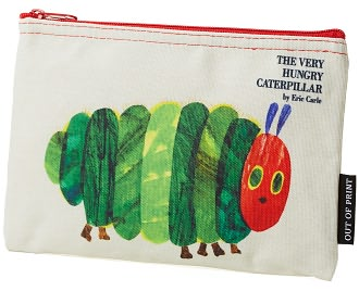 Eric Carle The Very Hungry Caterpillar Zippered Canvas Pouch