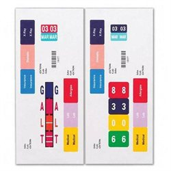 Smead 66006 Label Strip Refills Inkjet 250 Label Forms 1-1/2inx7-1/2in