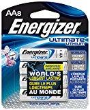 Energizer L91BP-8 Ultimate Lithium AA Batteries (8-Pack)