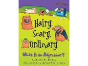 "Hairy, Scary, Ordinary Words are Categorical Binding: Paperback Publisher: Lerner Pub Group Publish Date: 2001/09/01 Synopsis: Rhyming text and illustrations of comical cats present numerous examples of adjectives, from ""hairy, scary, cool, and ordinary"" to ""tan and tall,"" ""funny, frisky, smooth, and small."" Language: ENGLISH Dimensions: 8.75 x 6.75 x 0.25 Weight: 0.20 ISBN-13: 9781575055541"