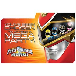 Power Rangers Invitations (8 Pack)