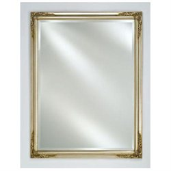 Afina Corporation EC13-2430-SV 24 in.x 30 in.Estate Distinctive Framed Wall Mirror - Antique Silver