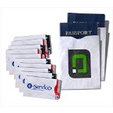 RFID Blocking Sleeves (10 Credit Card & 2 Passport Protectors) Top Identity Theft Protection Travel Case Set. Smart Holders Fit Wallet, Purse & Cell Phones (Men & Women). Shields Radio Frequency ID