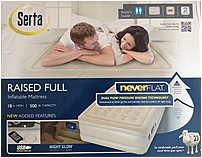 Serta 85001614 Airbed has Fast inflation and deflation with auto shut off pump, silent secondary pump auto engages throughout the night to maintain your desired comfort level