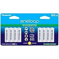 Panasonic Eneloop General Purpose Battery - 2000 Mah - Aa - Nickel Metal Hydride (nimh) - 1.2 V Dc - 16 / Pack Bk-3mcca16ba