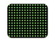 Green on Black Polka Dots Mousepad Mouse Pad