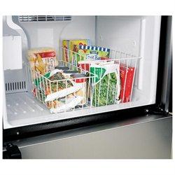 2 White Wire Freezer Storage Baskets