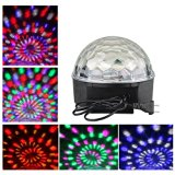 New Arrival Voice Control Rotating 8w Rgb Disco Lamp, Auto Activated Sound Control Magic Crystal Ball Stage Light for Home Party/ Bar/ Club/ Holiday/ Show/ Karaoke/ Christmas