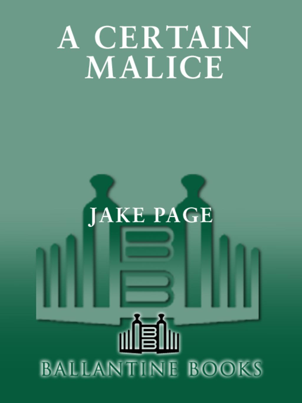 A Certain Malice (ebook)