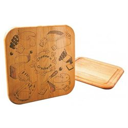 Cheese and Crackers Board with Reverse Groove (Set of 6)